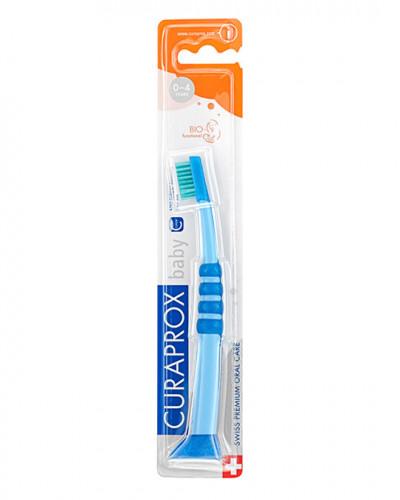 Brosse à dents Baby bleu-vert